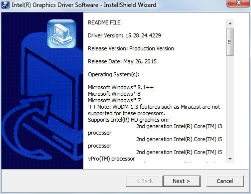 intel core i3 драйвер для windows 7