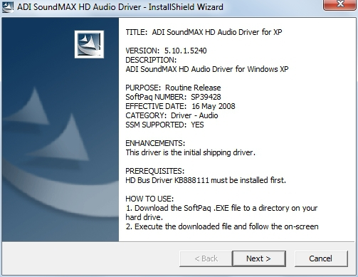 ADI SOUNDMAX DRIVERS FOR MAC