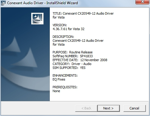CONEXANT CX20549 AUDIO WINDOWS 8 DRIVER