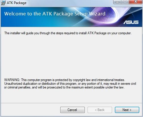 atk package asus