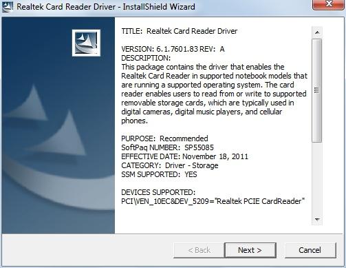 Realtek Pcie Cardreader Driver Download