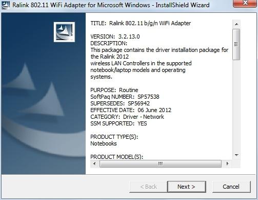 Cкачать драйвер Ralink 802 11 b/g/n WiFi для ноутбуков HP