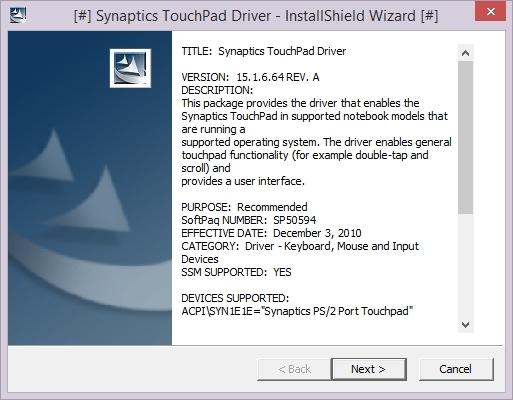 C touchpad synaptics hp pavilion dv6 - Synaptics ps port touchpad driver windows bit ...